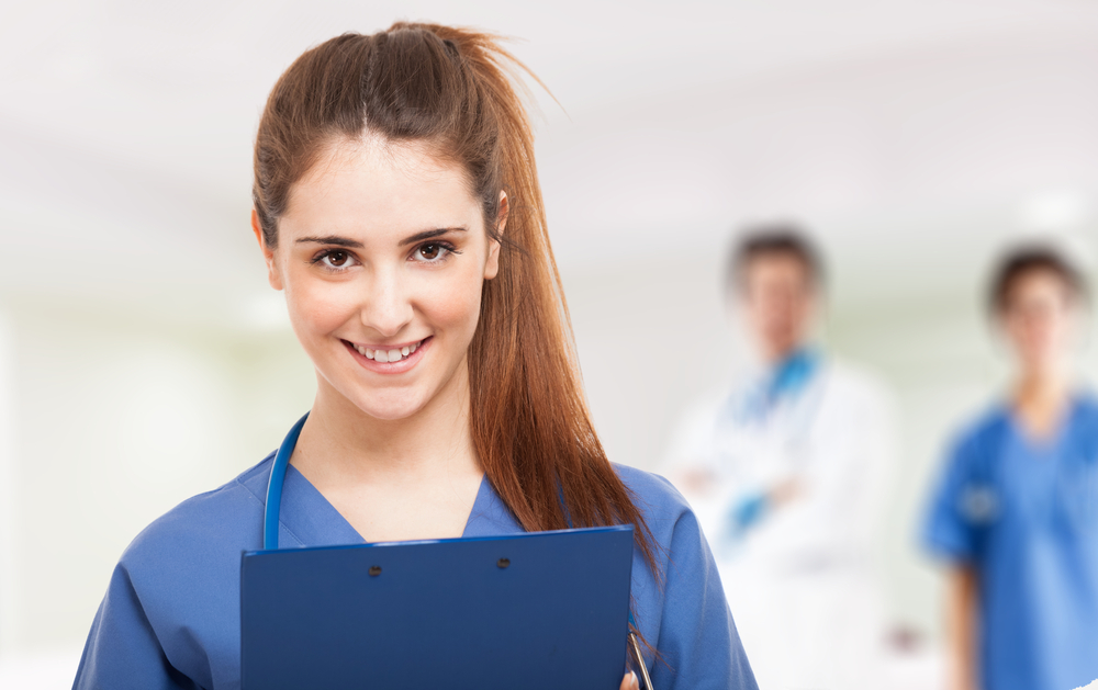 Healthcare worker gaining professional credibility with coworkers.