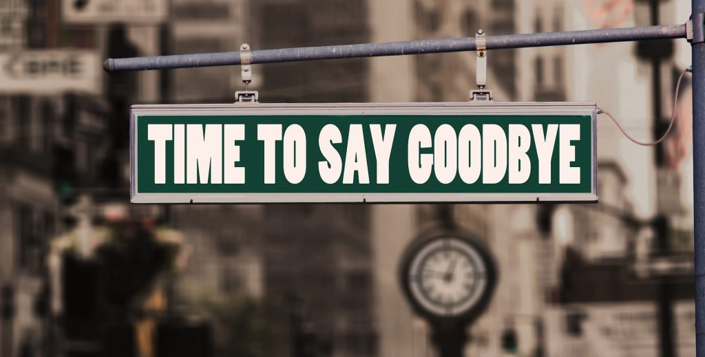 "Sign that reads ""Time to Say Goodbye."" Is it time to fire your lactation consultant?"