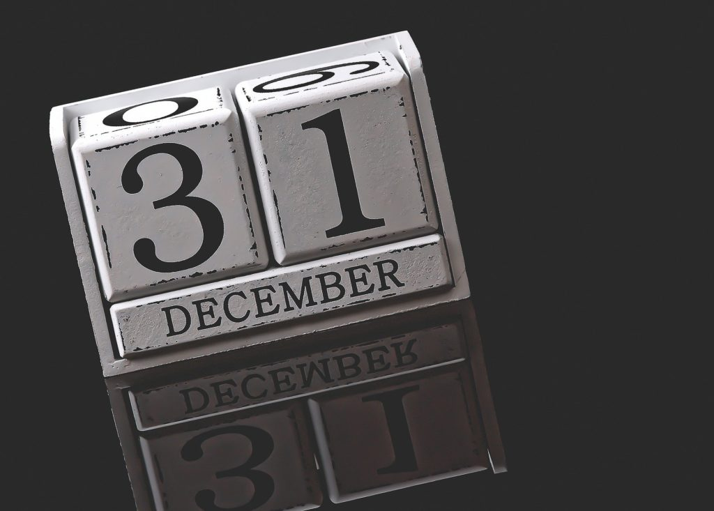 December 31 ushers in the new year