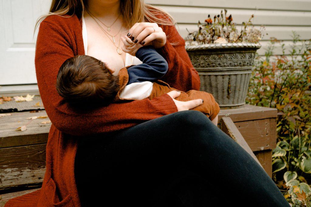 Mother breastfeeding beyond 6 months